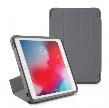Pipetto iPad mini 5 / iPad mini 4 Origami Shield Case Dark Grey - Front