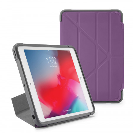 Pipetto iPad mini 5 / iPad mini 4 Origami Shield Case Purple - Front