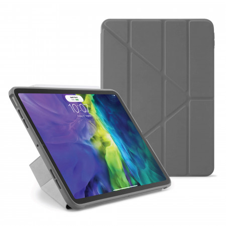 iPad Air 4 10.9 inch TPU Origami Case Dark Grey - Hero
