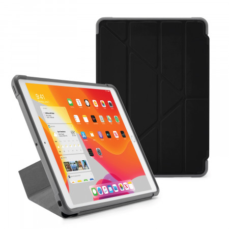 Pipetto iPad 7th Generation Black Origami Shield Case - Hero