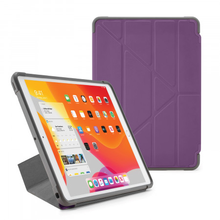 Pipetto iPad 7th Generation Purple Origami Shield Case - Hero