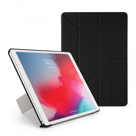 Pipetto iPad Air 10.5 / Pro 10.5 Origami Case Black - Front
