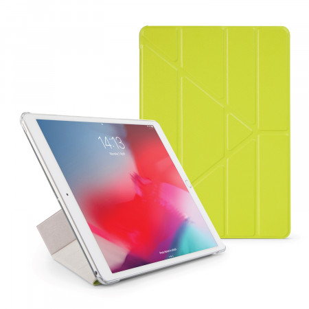 Pipetto iPad Air 10.5 / Pro 10.5 Origami Luxe Case Pistachio - Front