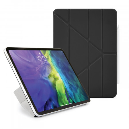 iPad Pro 12.9 2020 (3rd & 4th Gen) Origami Smart Folio Case Black  -  Hero