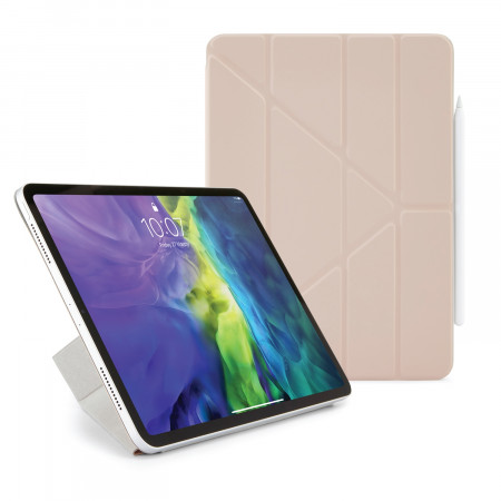 iPad Pro 11 2020 Origami Smart Folio Case Dusty Pink - Hero