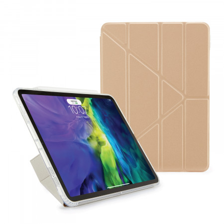 iPad Air 4 10.9 inch TPU Origami Case Champagne Gold - Hero