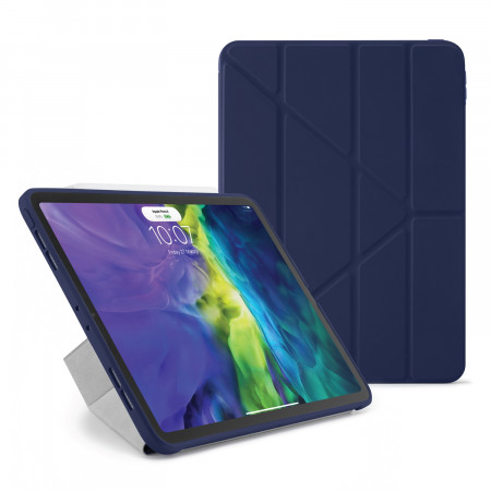 iPad Pro 12.9 2020 TPU Origami Case Dark Blue - Hero