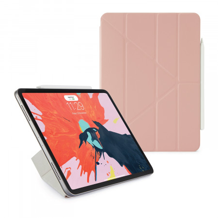 Pipetto 11-inch iPad Pro Origami Folio Dusty Pink - Hero