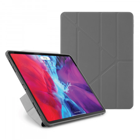 iPad Pro 12.9 2020 TPU Origami Case Dark Grey - Hero