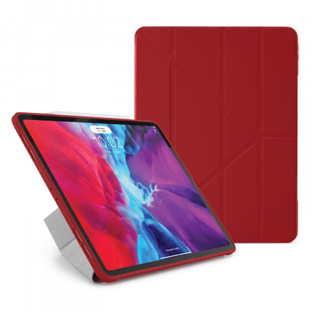 iPad Pro 12.9 2020 TPU Origami Case Red - Hero