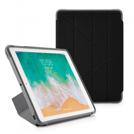 Pipetto iPad 9.7 Origami Case Black - Front