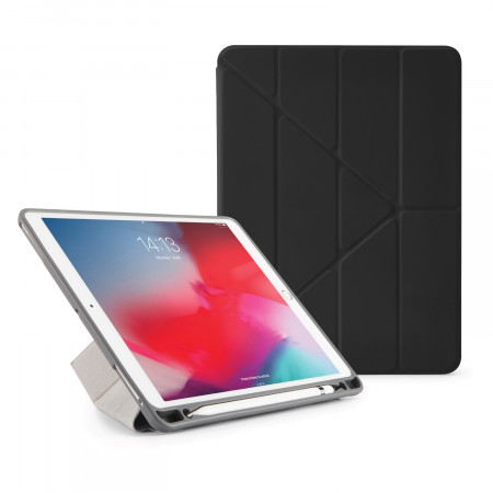 Pipetto iPad Air 10.5 / Pro 10.5 Origami Pencil Case Black - Front