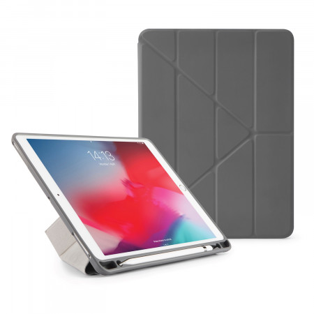 Pipetto iPad Air 10.5 / Pro 10.5 Origami Pencil Case Dark Grey - Front