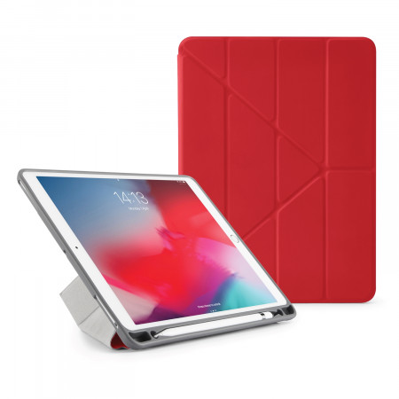 Pipetto iPad Air 10.5 / Pro 10.5 Origami Pencil Case Red - Front