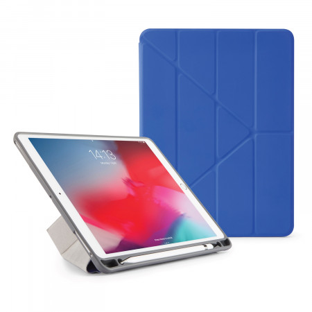 Pipetto iPad Air 10.5 / Pro 10.5 Origami Pencil Case Royal Blue - Front