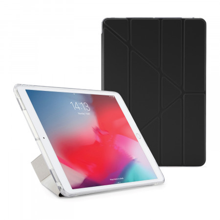 Pipetto iPad Air 10.5-inch and iPad Pro 10.5 TPU Luxe Case Black and Clear - Front