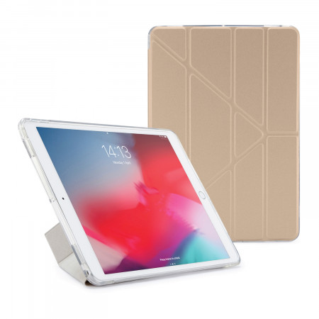 Pipetto iPad Air 10.5-inch and iPad Pro 10.5 TPU Metallic Case Champagne Gold and Clear - Front