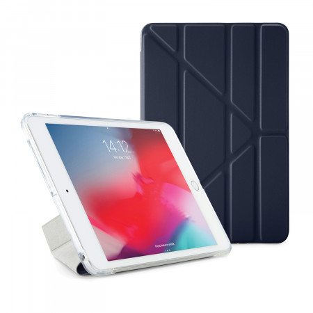 Pipetto iPad mini 5 / iPad mini 4 Origami TPU Luxe Case Navy and Clear - Front