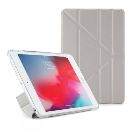 Pipetto iPad mini 5 / iPad mini 4 Origami TPU Metallic Case Silver and Clear - Front