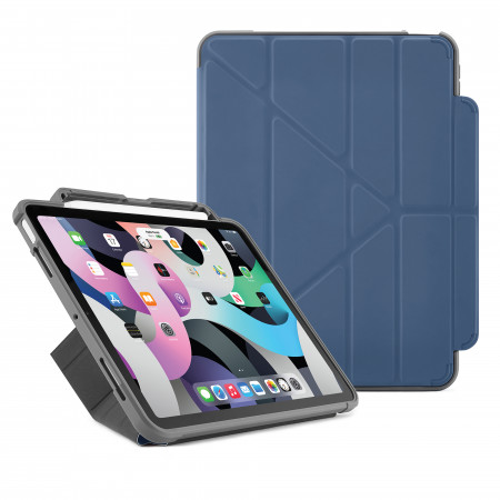Pipetto iPad Air 10.9 Generation Navy Origami Pencil Shield Case - Hero