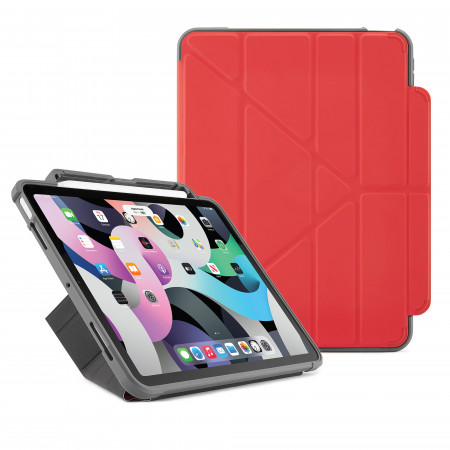 Pipetto iPad Air 10.9 Generation Red Origami Shield Case - Hero