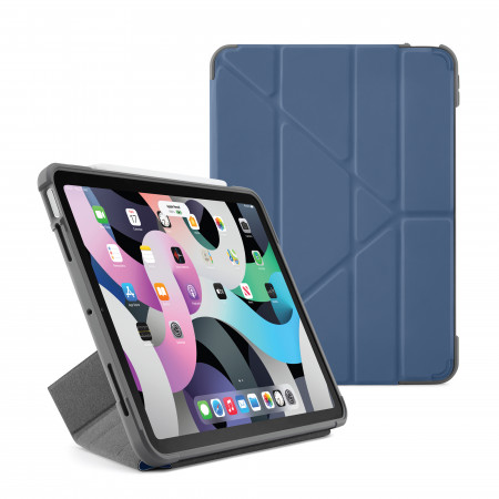 Pipetto iPad Air 10.9 Generation Dark Blue Origami Shield Case - Hero