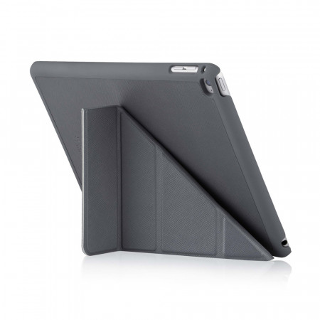iPad Air 2 Origami case - Grey Saffiano Leather - Back Exterior