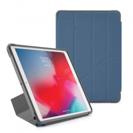 Pipetto iPad Air 10.5-inch and iPad Pro 10.5 Origami Shield Case Navy - Front
