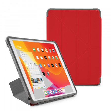 Pipetto iPad 7th Generation Red Origami Shield Case - Hero