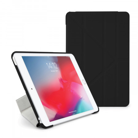 Pipetto iPad mini 5 / iPad mini 4 Origami Case Royal Black - Front