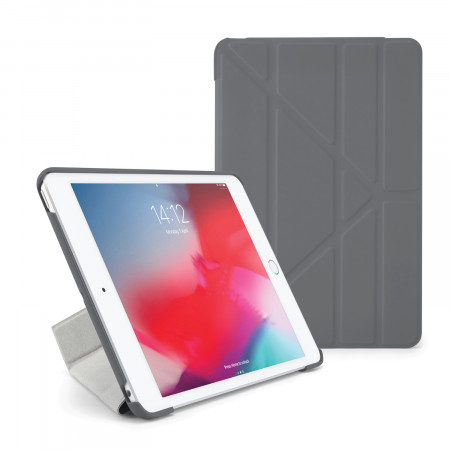 Pipetto iPad mini 5 / iPad mini 4 Origami Case Royal Dark Grey - Front