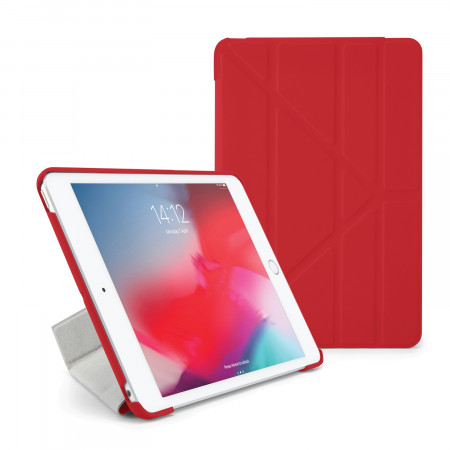 Pipetto iPad mini 5 / iPad mini 4 Origami Case Red - Front