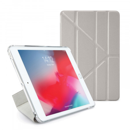 Pipetto iPad mini 5 / iPad mini 4 Origami Metallic Case Silver and Clear - Front