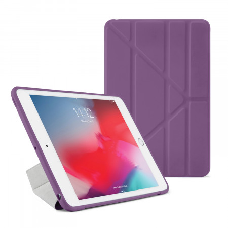 Pipetto iPad mini 5 / iPad mini 4 Origami TPU Case Purple and Clear - Front