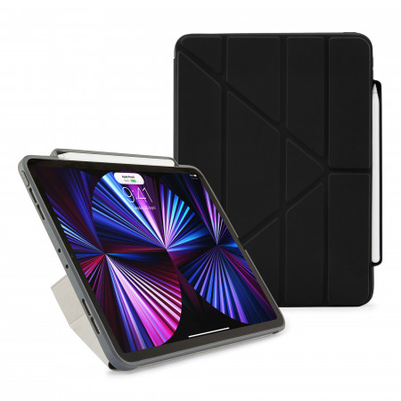 iPad Pro 11 (1st, 2nd & 3rd) Origami No3 Pencil Case - Black - Hero