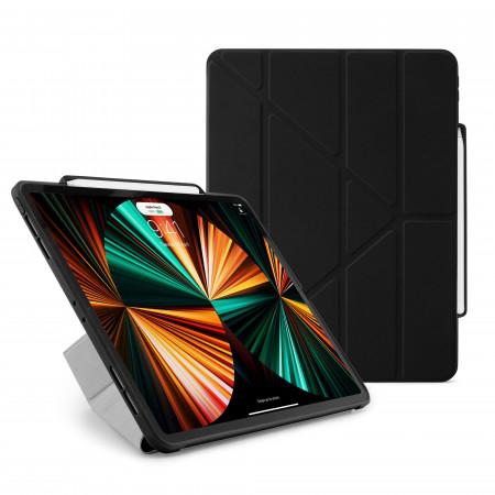 iPad Pro 12.9 (3rd, 4th & 5th Gen) Origami No3 Pencil Case - Black - Hero