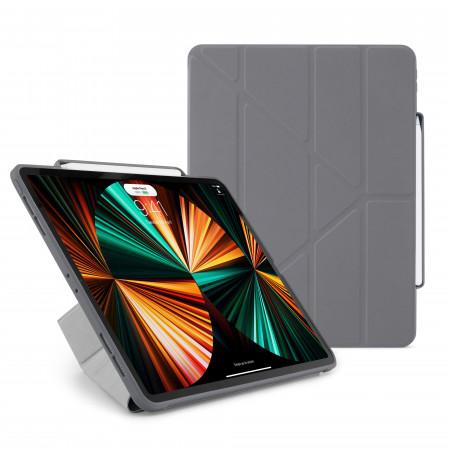 iPad Pro 12.9 (3rd, 4th & 5th Gen) Origami No3 Pencil Case - Dark Grey - Hero