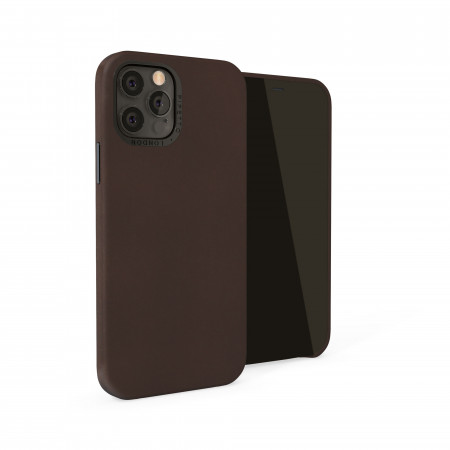 iPhone 12 / iPhone 12 Pro (6.1-inch) 2020 - Magnetic Leather iPhone Case - Brown