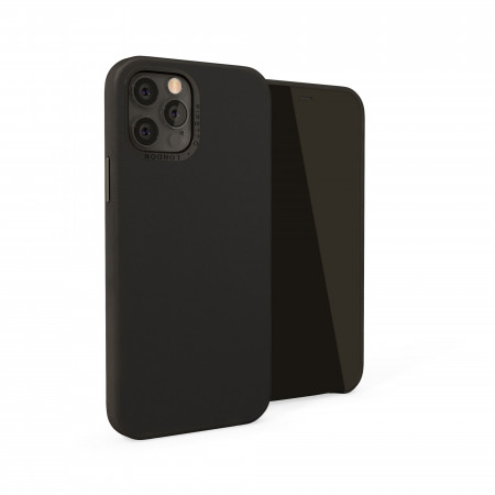 iPhone 12 / iPhone 12 Pro (6.1-inch) 2020 - Magnetic Leather iPhone Case - Black