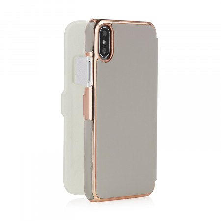 iphone-X-silm-wallet-light-grey-bacl-open