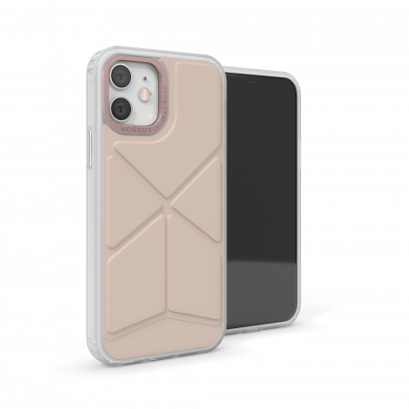 iPhone 12 / iPhone 12 Pro (6.1-inch) 2020 - Origami Snap Case - Dusty Pink