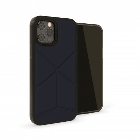 iPhone 12 (5.4)-Origami Snap-dark-blue-front angle