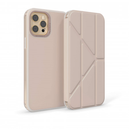 iPhone 12 Pro (6.7)-Origami Folio-Dusty-pink-overview