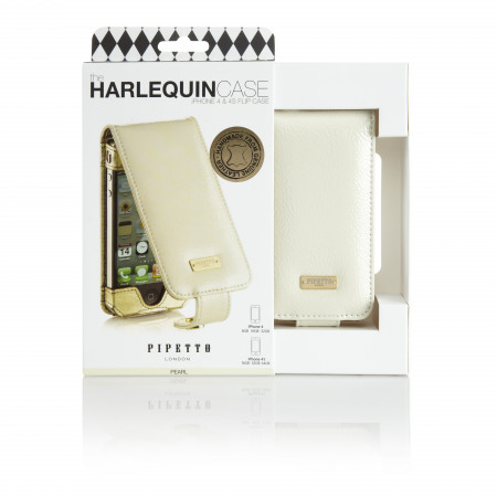 Luxury iPhone 4/4S Flip Case - Patent Pearl