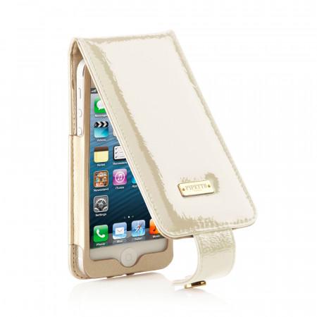 Luxury iPhone 5/5S/5C Flip Case - Pearl Patent
