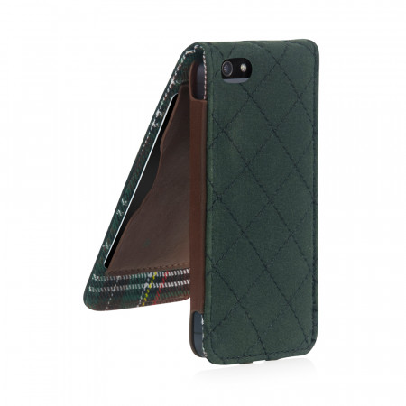 Leather iPhone 5S Case Green Barbour Best British iPhone 5S Case Cover