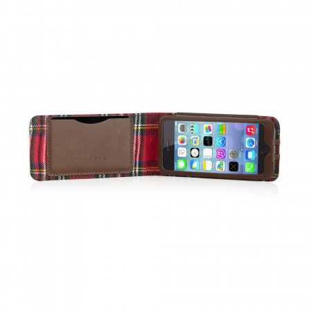 Leather iPhone 5S Case Navy Barbour Best British iPhone 5S Case Cover
