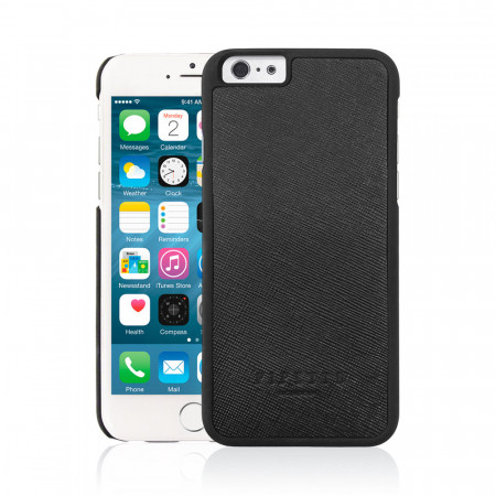 Black iPhone 6 Plus / iPhone 6S Plus Saffiano Snap Case - Black Saffiano