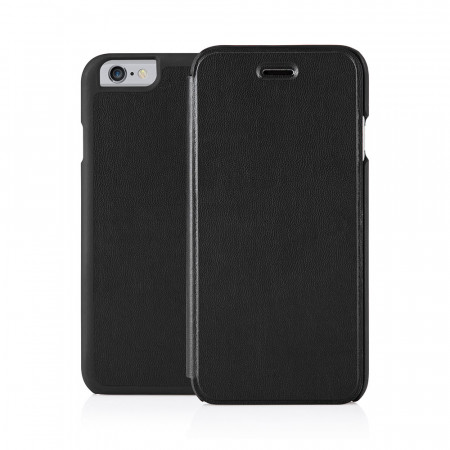 Pipetto iPhone 6 / iPhone 6S Folio Case Black Lambskin Luxe