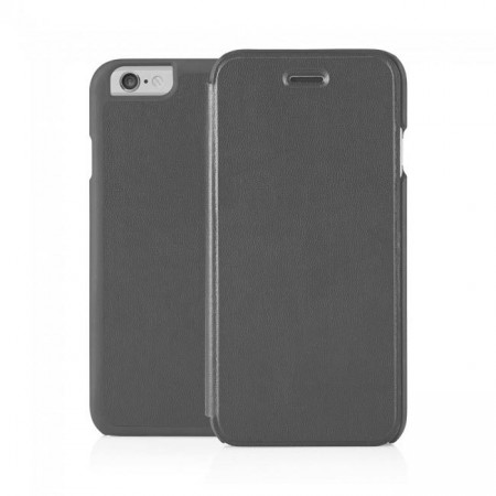 Pipetto iPhone 6 / iPhone 6S Folio Case Grey Lambskin Luxe